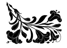 BLACK CLIMP. ORNAMENTATION; CLIMB; BLACK; FLOWER;graphics vector illustration