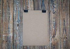 Black clip and White paper hang Stock Photography