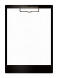 Black clipboard with empty sheet Royalty Free Stock Photography