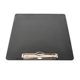 Black Clipboard over isolated white background Stock Photography