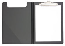Black clipboard and paper Royalty Free Stock Images
