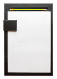 Black clipboard and pencil Stock Images