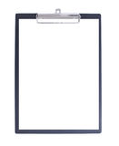 Black Clipboard with piece of paper Royalty Free Stock Photo
