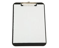 Black Clipboard with White Paper Stock Photography