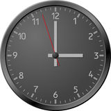 Black clock. Stock Image