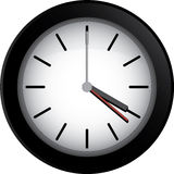 Black Clock Royalty Free Stock Images