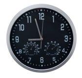 Black clock. Over white background Stock Photo