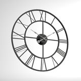 Black Clock 3d render for graphic use Stock Photos