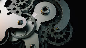 Black clock gear Is made up of 3d programs. Stock Image