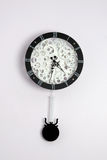 Black clock with gears Royalty Free Stock Photo