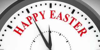 Clock dial Happy Easter stock image