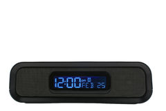 Black clock radio Stock Photos