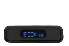 Black clock radio Stock Photos
