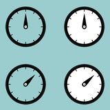 Black clock watcher timer icon. Royalty Free Stock Image