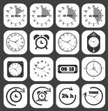 Black clocks icon Stock Image