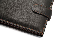 Black Closed Leather Wallet with Latch Royalty Free Stock Image