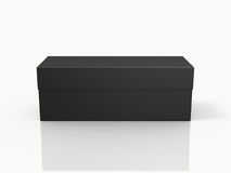 Black Closed Rectangle Gift Box Stock Image
