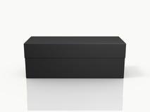Black Closed Rectangle Gift Box Stock Image