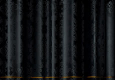 Black cloth. Black pattern on the fabric, Wallpaper backgrounds Stock Images