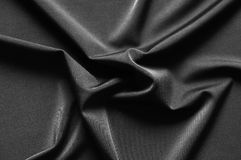Black cloth. Natural folds of black cloth Royalty Free Stock Photos