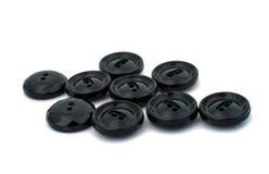 Black cloth button closeup Royalty Free Stock Image
