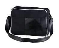 Black cloth laptop bag Royalty Free Stock Photography