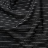 Black cloth material with white stripes Stock Photo