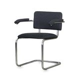 The black cloth office chair isolated Stock Image