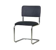 The black cloth office chair isolated Royalty Free Stock Images