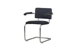 The black cloth office chair isolated Stock Photos