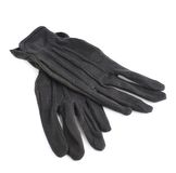 Black cloth working gloves isolated Stock Photos