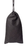 Black Clothes Bag Stock Image
