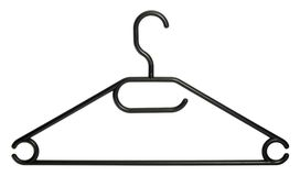 Black clothes hanger Stock Photo