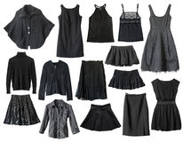 Black clothes Stock Image