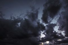 Black cloud  abstract for background.  Royalty Free Stock Images