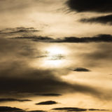 Black cloud in darkness sky, night sky Royalty Free Stock Photos