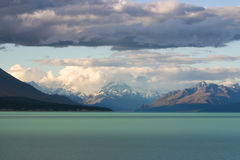 Black cloud over lake Tekapo, South Island, New Zealand. Black cloud over lake Tekapo, New Zealand Stock Photography