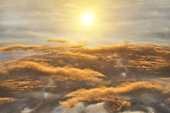 Black cloud and sunlight Royalty Free Stock Photos