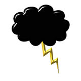 Black cloud with thunder Royalty Free Stock Photo