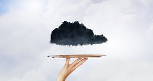 Black cloud on tray Stock Photography