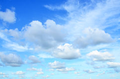 Black clouds with blue sky Stock Photography