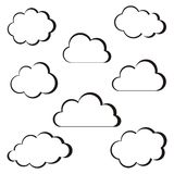 Black clouds outline Stock Photos