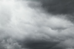 Black clouds in the sky Royalty Free Stock Image