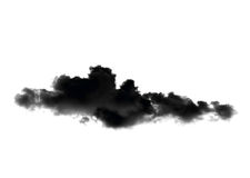 Black clouds or smoke isolated on white background Royalty Free Stock Image