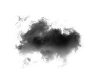 Black clouds on white background Royalty Free Stock Photo