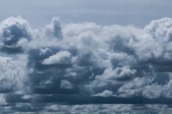 Black cloudy on dark sky for weather background.  Royalty Free Stock Photos
