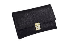 Black clutch bag. Stock Photos