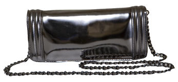 Black  clutch bag Royalty Free Stock Photography