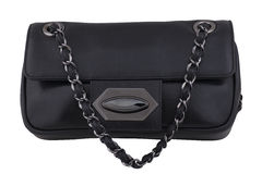 Black clutch bag Royalty Free Stock Photos