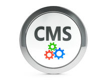 Black CMS icon with highlight Stock Photos